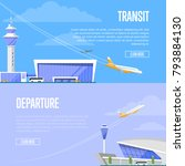 aircraft transit and airport... | Shutterstock .eps vector #793884130