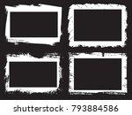 vector frames. rectangles for... | Shutterstock .eps vector #793884586