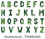 english alphabet. capital... | Shutterstock .eps vector #793885330