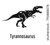 tyrannosaurus icon. simple... | Shutterstock .eps vector #793888078