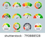credit score indicators.... | Shutterstock .eps vector #793888528