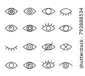 Eye Line Icon. Human Organ Of...