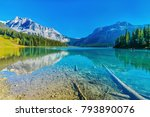 emerald lake yoho national park ... | Shutterstock . vector #793890076