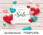 valentine's day sale poster...   Shutterstock .eps vector #793891456