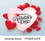 happy valentines day romance... | Shutterstock .eps vector #793891459