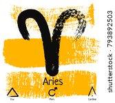 aries. zodiac sign pictogram....   Shutterstock .eps vector #793892503