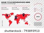 complex world map infographics...   Shutterstock .eps vector #793893913