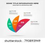 three petal of percentage... | Shutterstock .eps vector #793893949