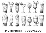 big set of different glasses ... | Shutterstock .eps vector #793896100