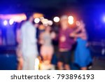 blurred people having sunset... | Shutterstock . vector #793896193