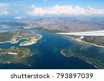 aerial view from plane to bali... | Shutterstock . vector #793897039