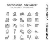firefighting  fire safety...   Shutterstock .eps vector #793897810