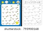 preschool worksheet for... | Shutterstock .eps vector #793900168