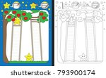 preschool worksheet for... | Shutterstock .eps vector #793900174