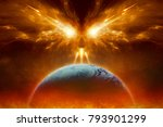 religious apocalyptic... | Shutterstock . vector #793901299