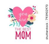 beautiful flowers on a... | Shutterstock .eps vector #793902970