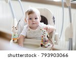cute adorable baby sitting in... | Shutterstock . vector #793903066