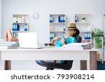 businessman preparing for... | Shutterstock . vector #793908214