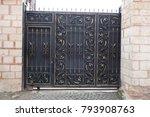 openwork leaf steel doors to... | Shutterstock . vector #793908763