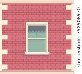 classic window in brick wall....   Shutterstock .eps vector #793908970