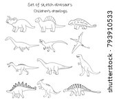 set of vector illustrations of... | Shutterstock .eps vector #793910533
