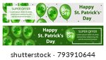 happy st. patrick's day set of... | Shutterstock .eps vector #793910644