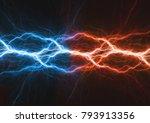 fire and ice plasma lightning...   Shutterstock . vector #793913356