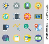 icons set about marketing. with ... | Shutterstock .eps vector #793913638