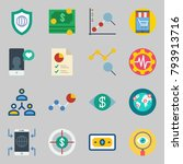 icons set about marketing. with ... | Shutterstock .eps vector #793913716