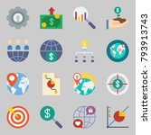 icons set about marketing. with ... | Shutterstock .eps vector #793913743