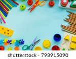 office and student accessories... | Shutterstock . vector #793915090