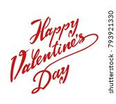 happy valentines day typography ... | Shutterstock .eps vector #793921330
