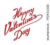 happy valentines day typography ... | Shutterstock .eps vector #793921330
