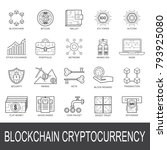 blockchain cryptocurrency icon... | Shutterstock .eps vector #793925080
