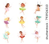 collection of little fairies.... | Shutterstock .eps vector #793926310