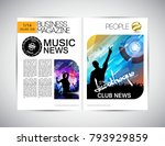 music event magazine. easy to... | Shutterstock .eps vector #793929859