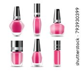 realistic nail polish set 3d... | Shutterstock .eps vector #793930399