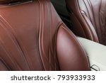 modern luxury car inside.... | Shutterstock . vector #793933933