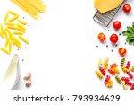 ingredients for cooking paste... | Shutterstock . vector #793934629
