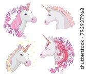 unicorn vector icon isolated on ... | Shutterstock .eps vector #793937968