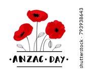 anzac day. australia new... | Shutterstock .eps vector #793938643