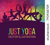 yoga fitness concept. vector... | Shutterstock .eps vector #793938709