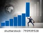 businessman supporting growtn... | Shutterstock . vector #793939528