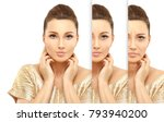 aging.woman of different ages... | Shutterstock . vector #793940200