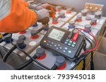 electrical technician use... | Shutterstock . vector #793945018
