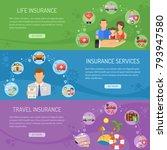 insurance services horizontal... | Shutterstock . vector #793947580