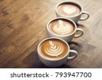 fresh brewed coffees with... | Shutterstock . vector #793947700