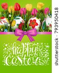 template vector card with... | Shutterstock .eps vector #793950418
