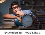student preparing for exams... | Shutterstock . vector #793952518