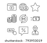 set of buy button  currency and ... | Shutterstock .eps vector #793953019